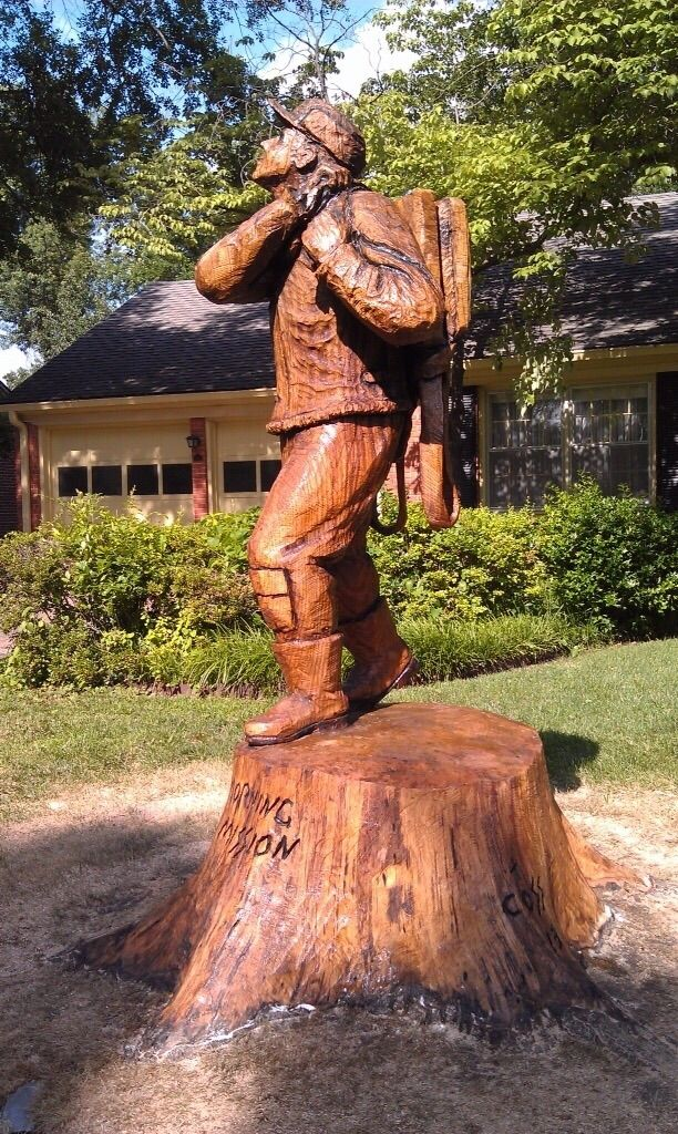 Chainsaw carvings by clayton coss